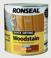 Ronseal Quick Drying Woodstain Satin 2.5L - Natural Pine